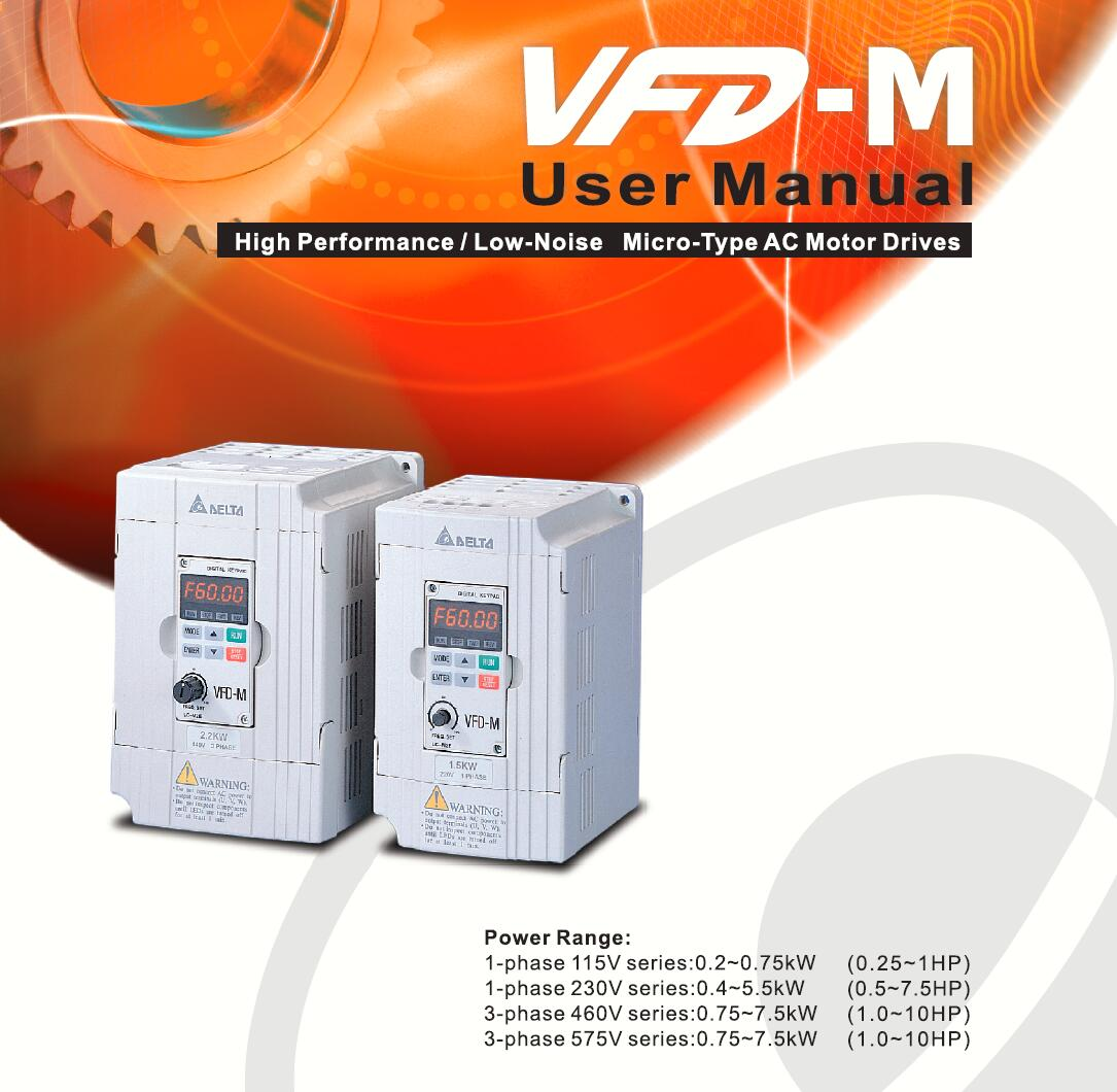 VFD075m43b VFD037m43b VFD007m21A VFD007m23A High Function Frequency Converter Made in Shanghai, China